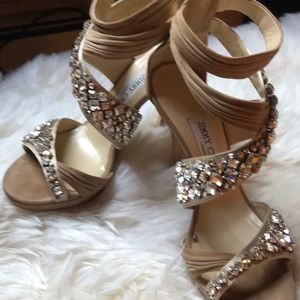 Jimmy Choo Swovorski crystal shoes
